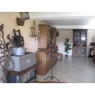 the rustic reception area